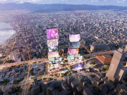 Taipei Twin Tower design (Photo courtesy of Nan Hai Development Ltd.)