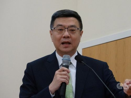 The ruling Democratic Progressive Party Chairman Cho Jung-tai
