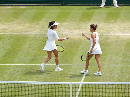 Taiwanese tennis veteran Hsieh Su-wei (left) and her partner Barbora Strycova of the Czech Republic / Image taken from facebook.com/wimbledon