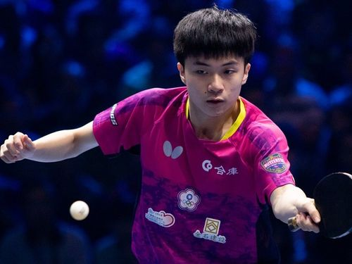 Taiwan 17-year-old table tennis player Lin Yun-ju (林昀儒) / photo from facebook.com/ITTFWorld