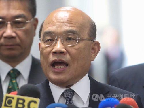 Premier Su Tseng-chang (蘇貞昌)/CNA file photo