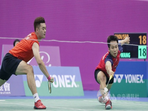 Lee Yang (李洋, right) and Wang Chi-lin (王齊麟)