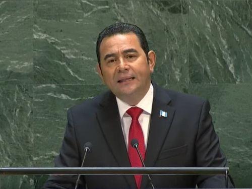 Guatemala President Jimmy Morales (Photo taken from UN Youtube channel)