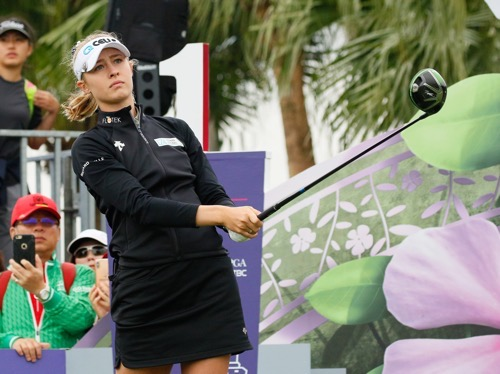 Defending champion Nelly Korda of the United States tees off her first round / Photo courtesy of Taiwan Swinging Skirts LPGA