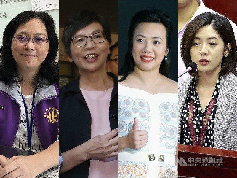 From left to right: Lai Hsiang-lin (賴香伶), Tsai Pi-ju (蔡壁如), Wu Hsin-ying (吳欣盈), Huang Ching-ying (黃瀞瑩)