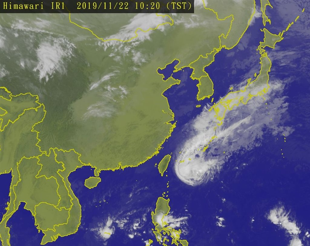 Satellite imagery taken from the Central Weather Bureau
