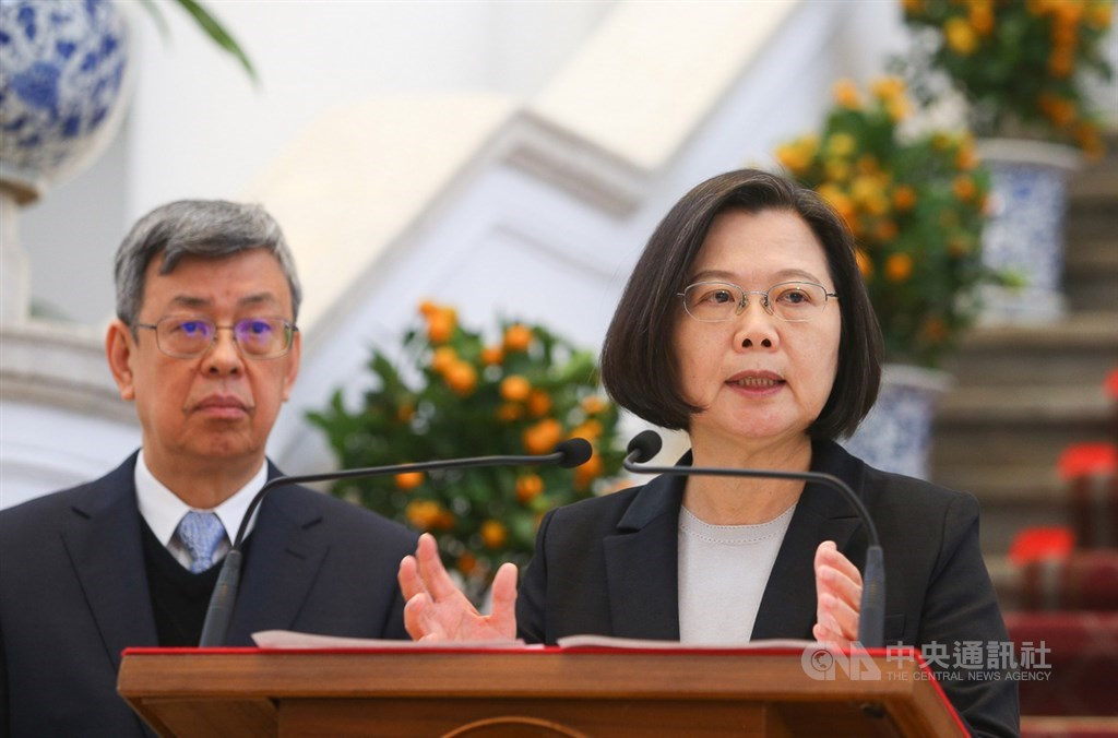 President Tsai Ing-wen (right) and Vice President Chen Chien-jen