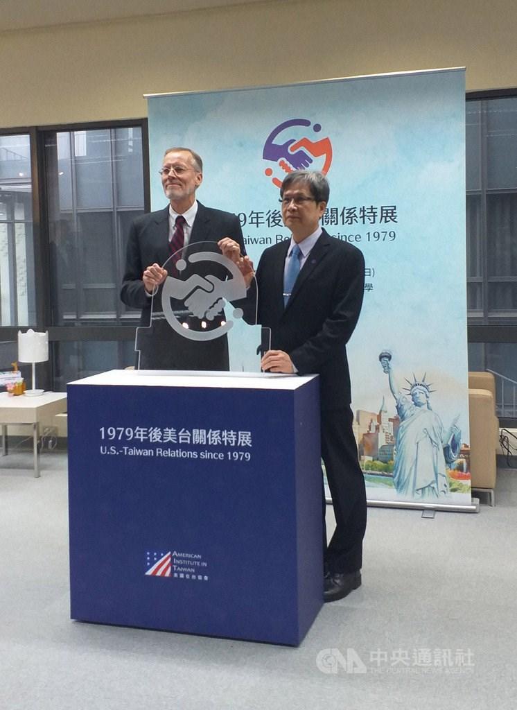 American Institute in Taiwan (AIT) Director Brent Christensen (left)