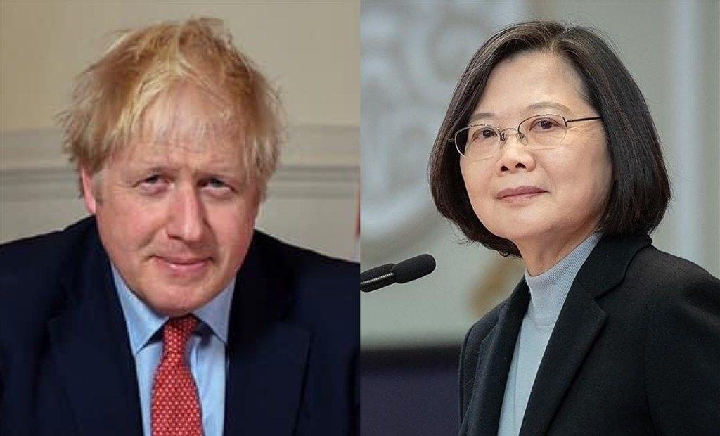 President Tsai Ing-wen (蔡英文, right) and British Prime Minister Boris Johnson / Right image taken from (https://www.facebook.com/tsaiingwen) and left image taken from (facebook.com/borisjohnson)