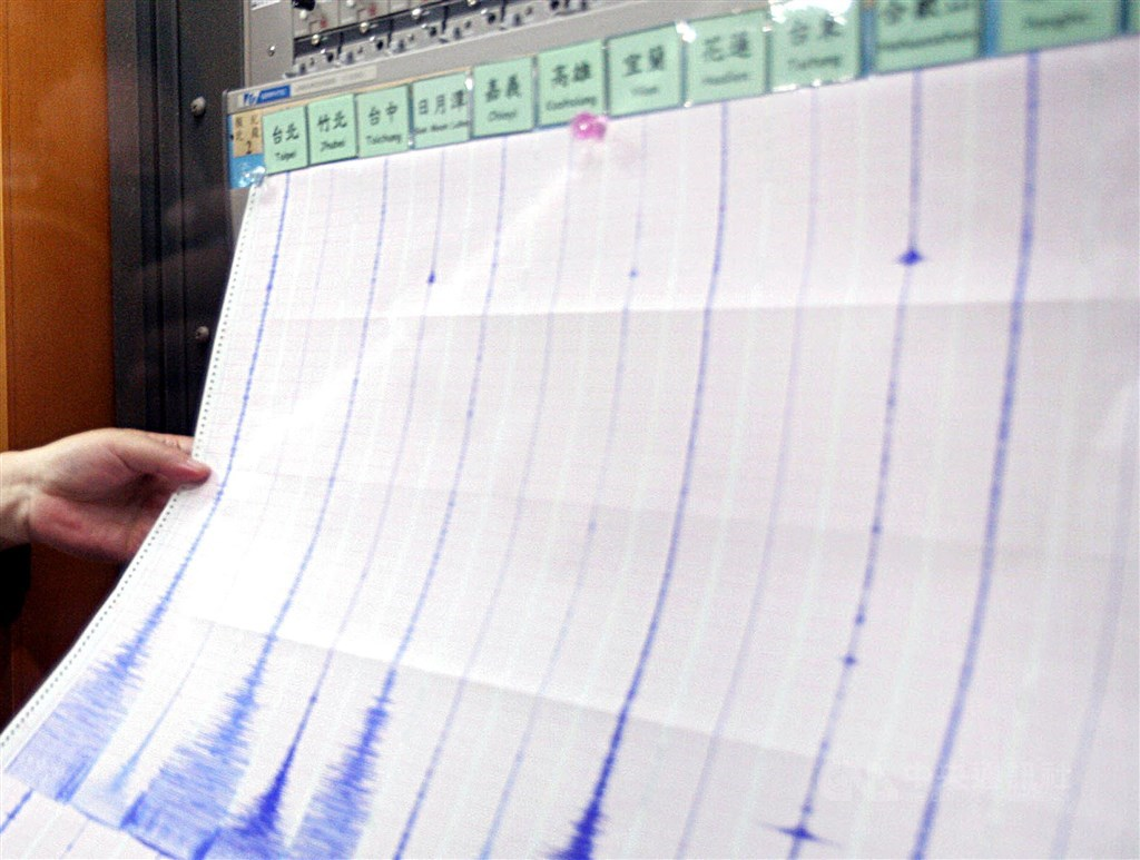 A seismometer at the CWB. (CNA file photo)
