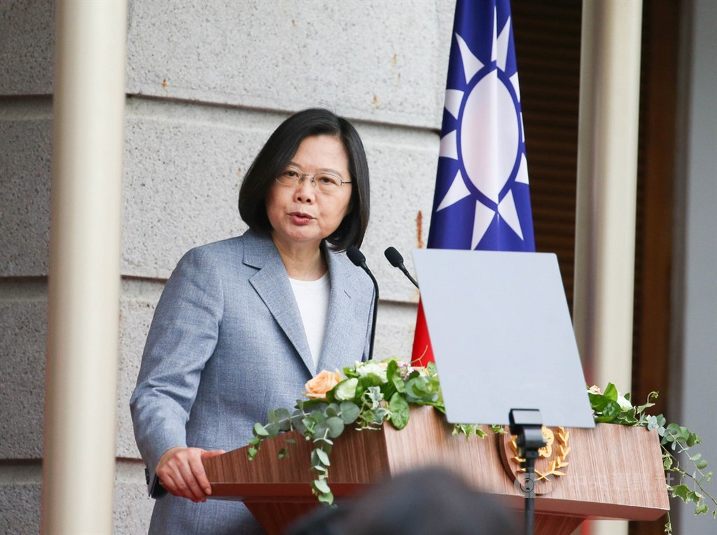 Taiwan President Tsai Ing-wen gives her second-term inaugural speech Wednesday in Taipei
