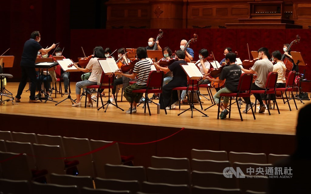 The National Symphony Orchestra in rehearsal Thursday.
