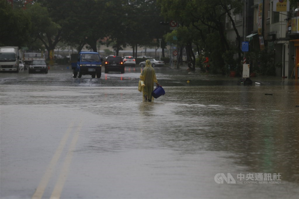 Flooding in Kaohsiung.