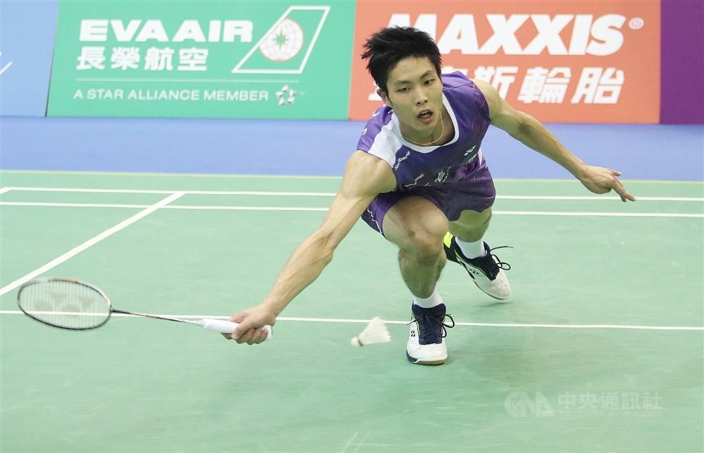 Chou Tien-chen in the 2019 Taipei Open.