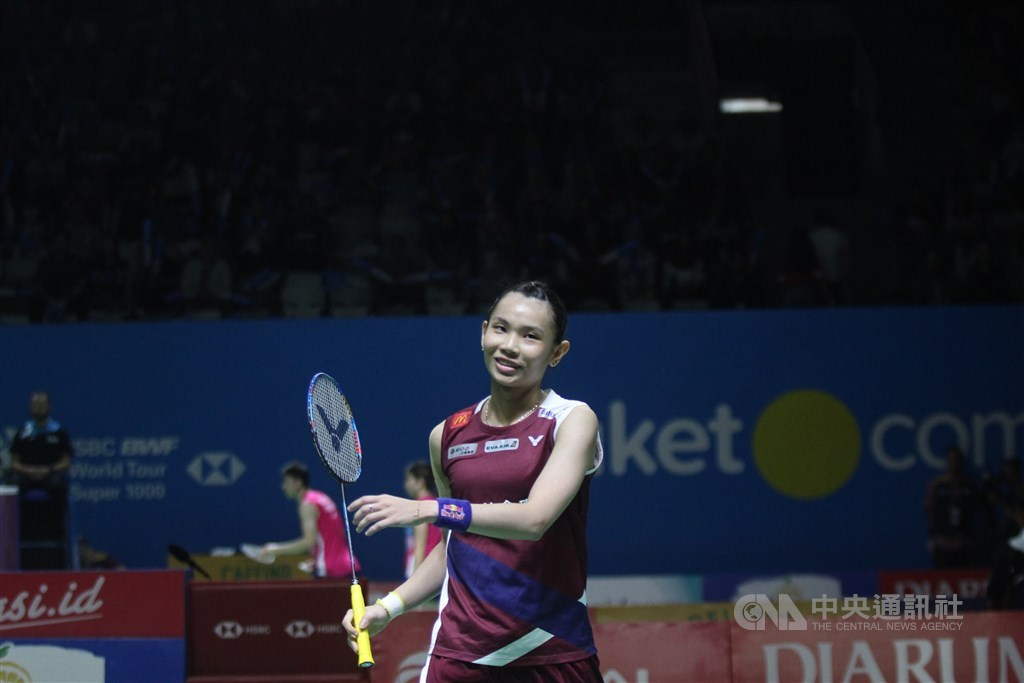 World No. 1 female badminton player Tai Tzu-ying is pictured in a match in 2019. / CNA file photo