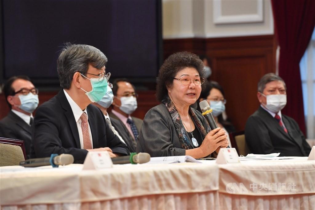 Chen Chu (陳菊, right) / CNA photo June 22, 2020