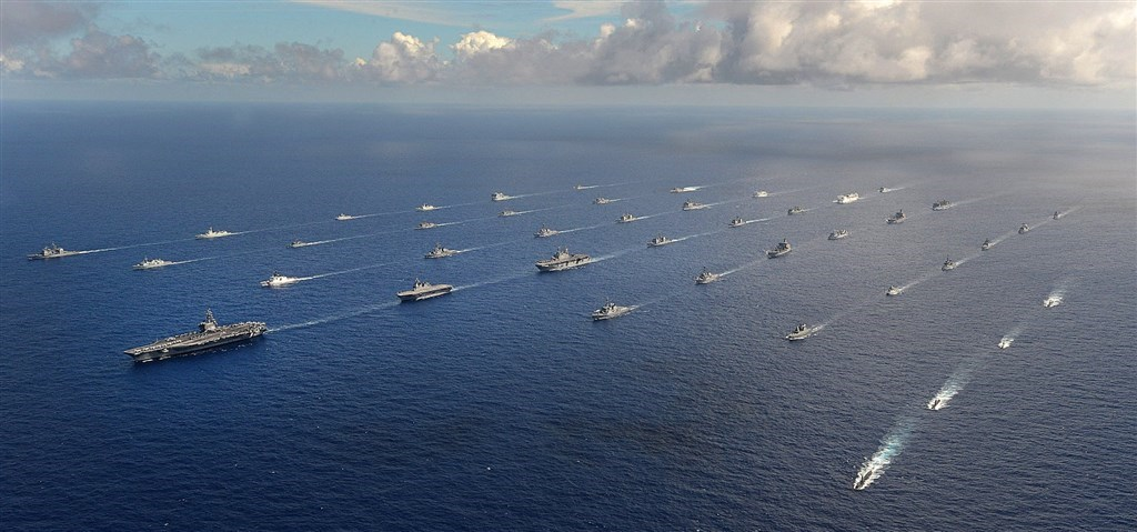 Ships participating in the Rim of the Pacific Exercise/ Photo from facebook.com/RimofthePacific