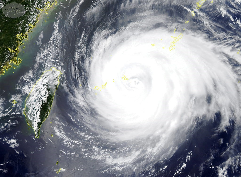 A Central Weather Bureau satellite image of Typhoon Maria in 2018.