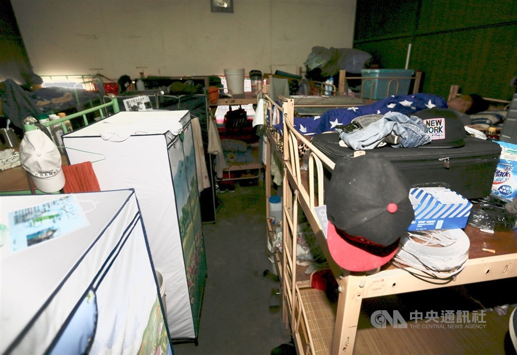 A view of the typical living space of a migrant worker in Taiwan / CNA file photo