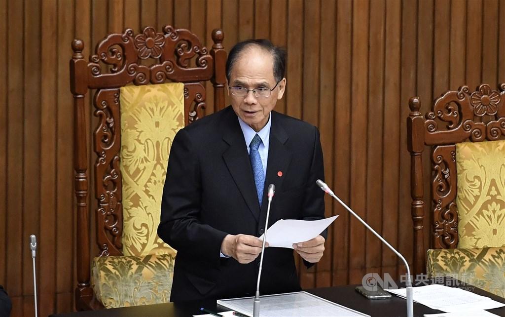 Legislative Yuan Speaker You Si-kun announces the vote results. CNA photo July 10, 2020