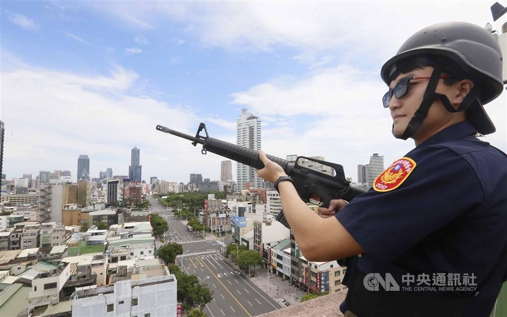 The Wan An air raid drills in Kaohsiung in 2019. CNA file photo