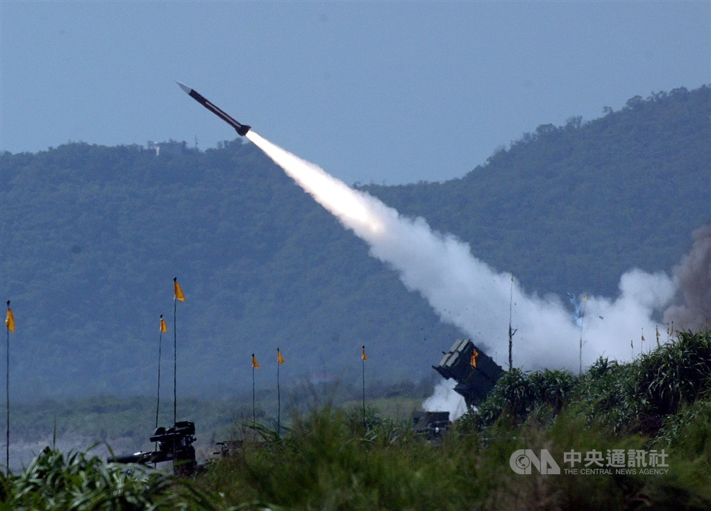 A Patriot Surface-to-Air missile is fired. CNA file photo
