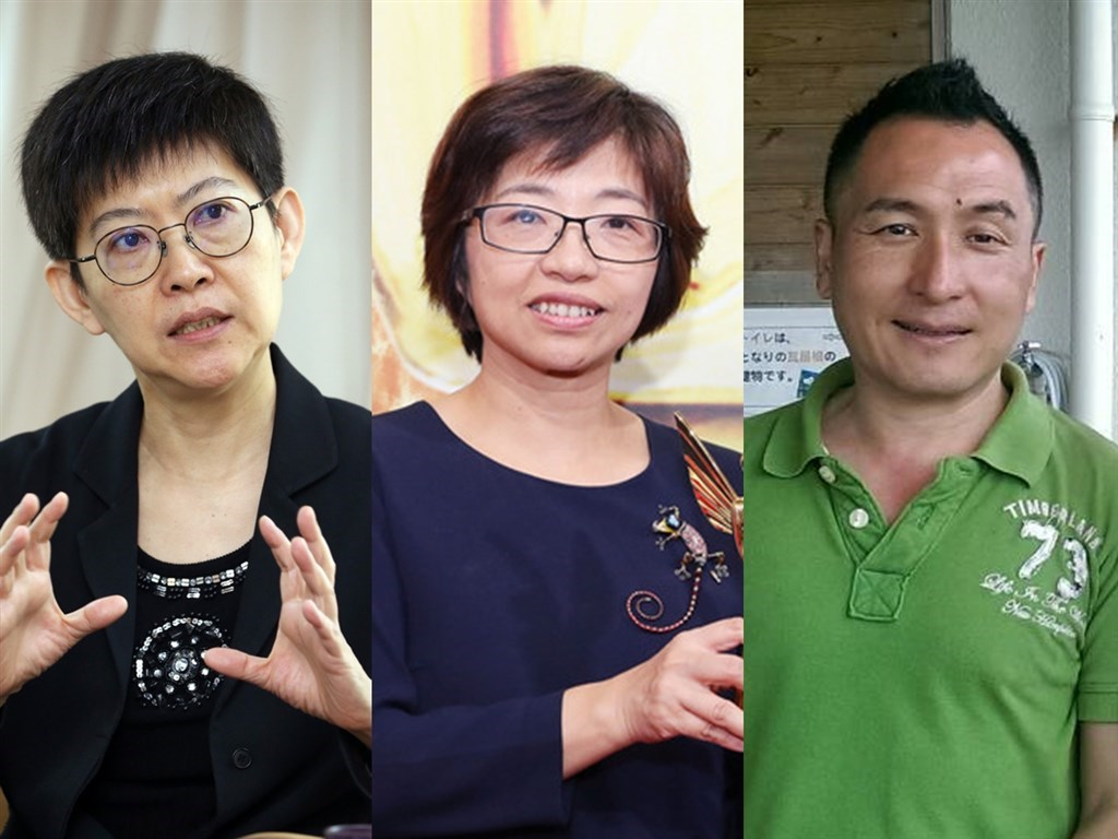From left to right: Tsao Wen-chieh, Hsieh Tsui-yu and Su Chi-chen