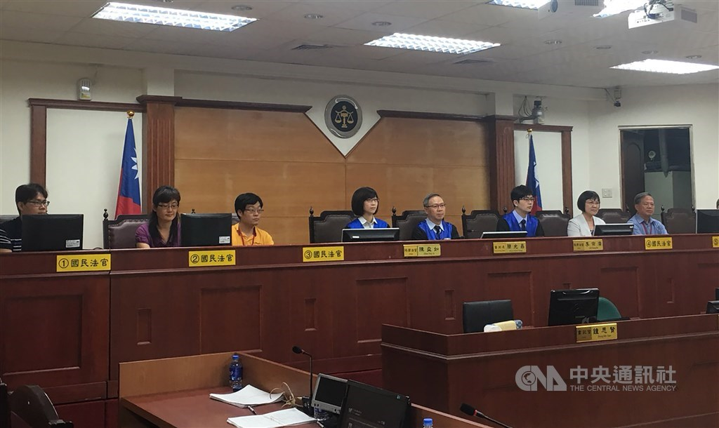 A courtroom at Pingtung District Court. CNA file photo for illustrative purpose only
