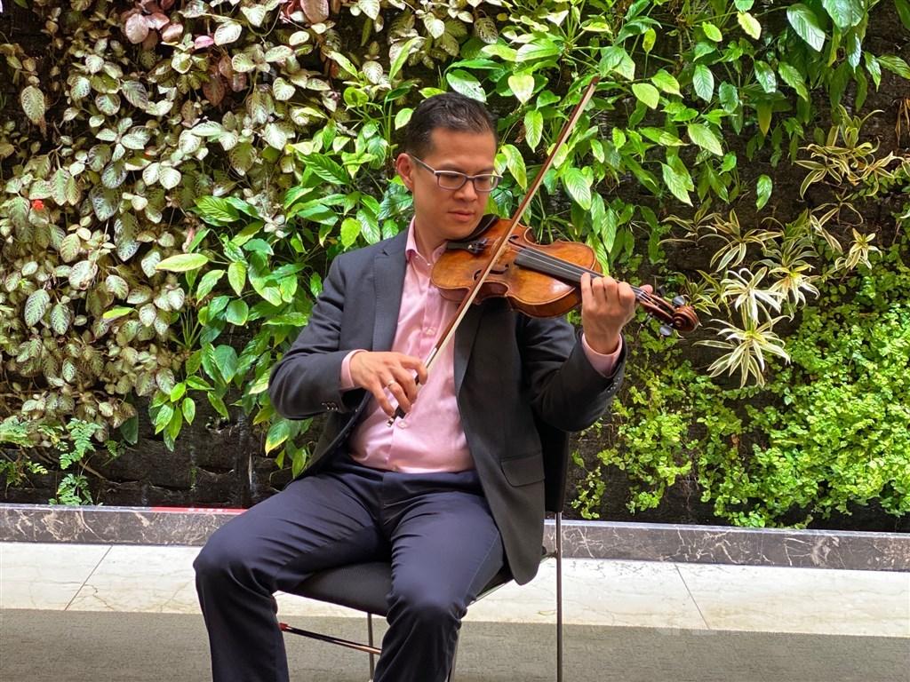 American violinist and concertmaster David Chan at Taiwan