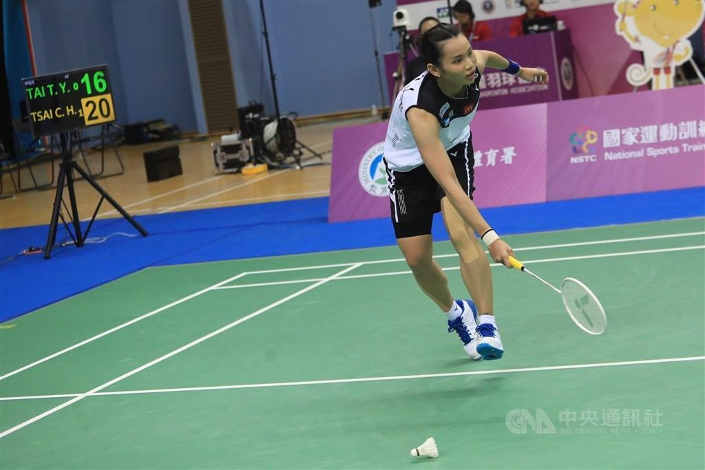 World No. 1 badminton player Tai Tzu-ying. CNA photo Aug. 3, 2020