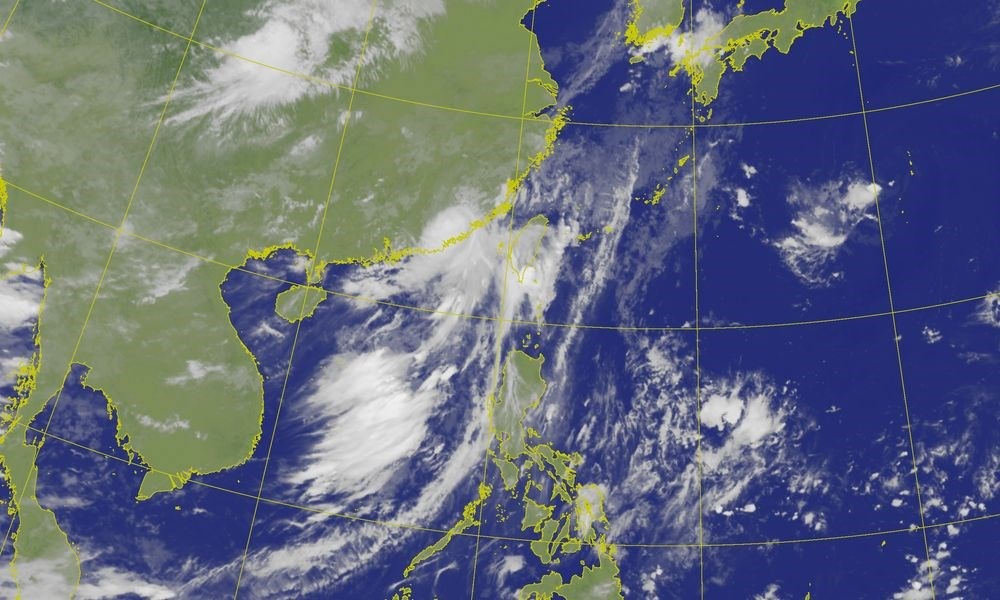 Satellite image from the Central Weather Bureau
