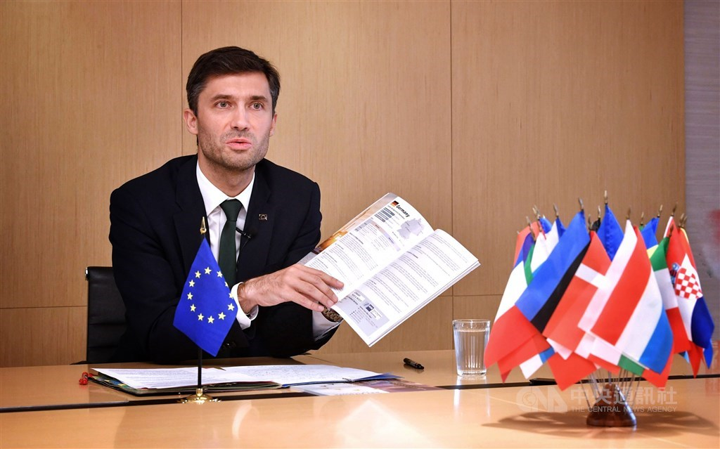 EU Representative in Taiwan Filip Grzegorzewski. CNA photo Sept. 12, 2020