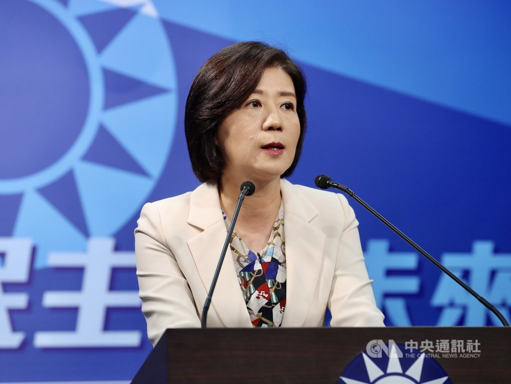 Wang Yu-min (王育敏), chairwoman of KMT Culture and Communications Committee / CNA photo Sept. 14, 2020
