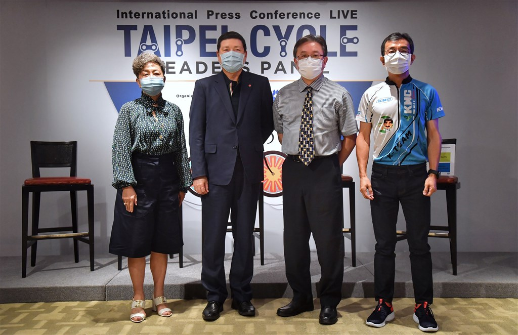 TAITRA announces the 2021 Taipei Cycle Show in a press conference. CNA photo Sept. 15, 2020