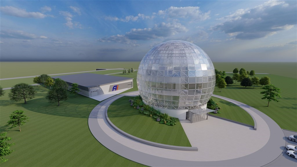 A graphic visualization of the data center once its construction is completed. File photo courtesy of Hon Hai