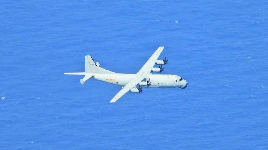 A Y-8 anti-submarine airplane (Image taken from the MND website)