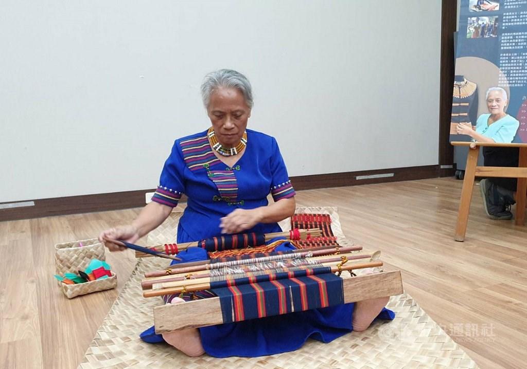 Ljumiyang Pacekelj, award-winning weaver of the indigenous Paiwan tribe
