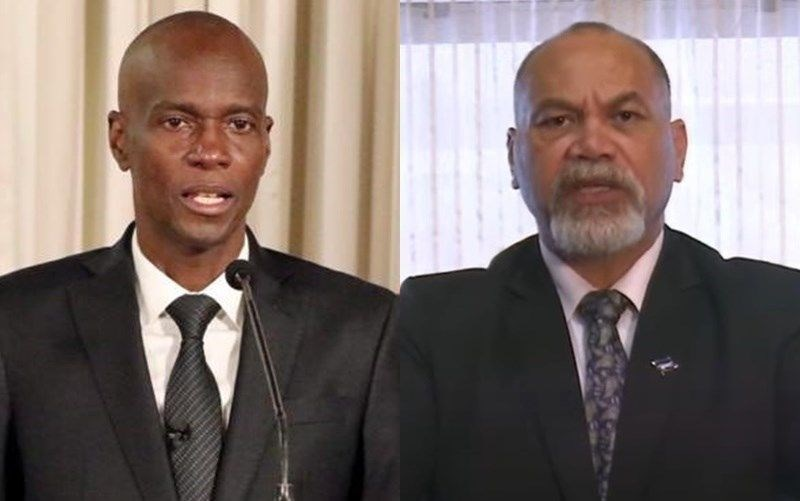 President Jovenel Moise of Haiti (left) and President Lionel Rouwen Aingimea of Nauru (right). Images taken from twitter.com/moisejovenel and the UN