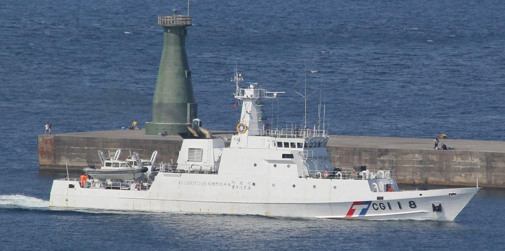 """The """"Keelung"""" patrol boat/ Photo courtesy of the Coast Guard Administration"""