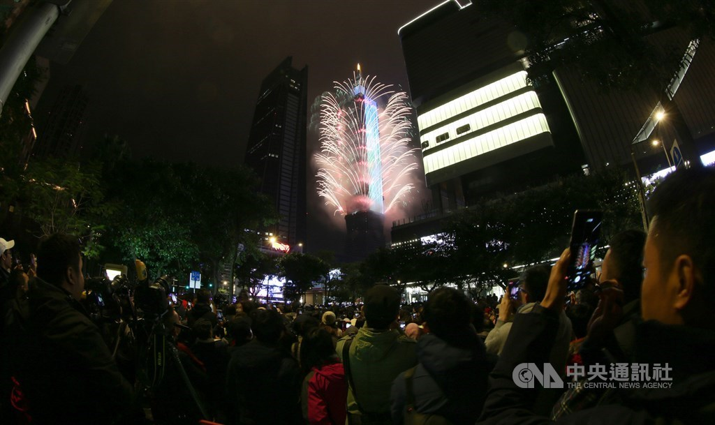 The fireworks show in 2019/ CNA file photo