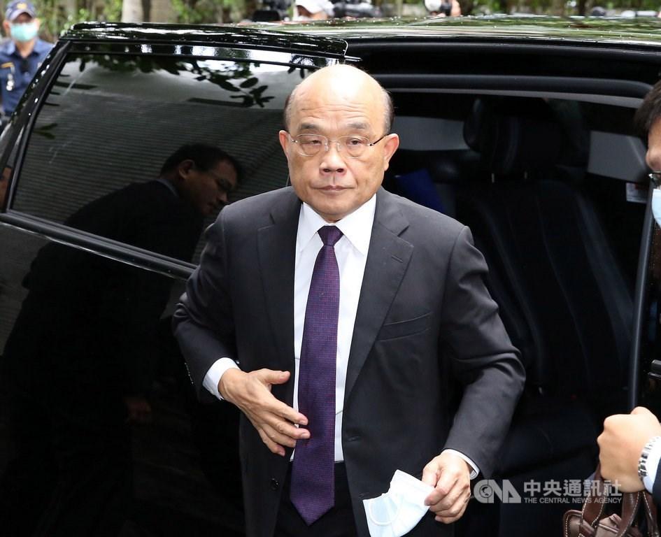 Premier Su Tseng-chang (蘇貞昌) / CNA photo Sept. 29, 2020