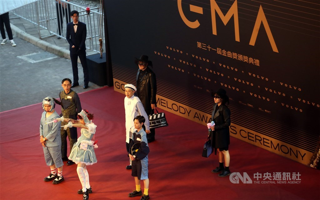 On the red carpet. CNA photo Oct. 3, 2020