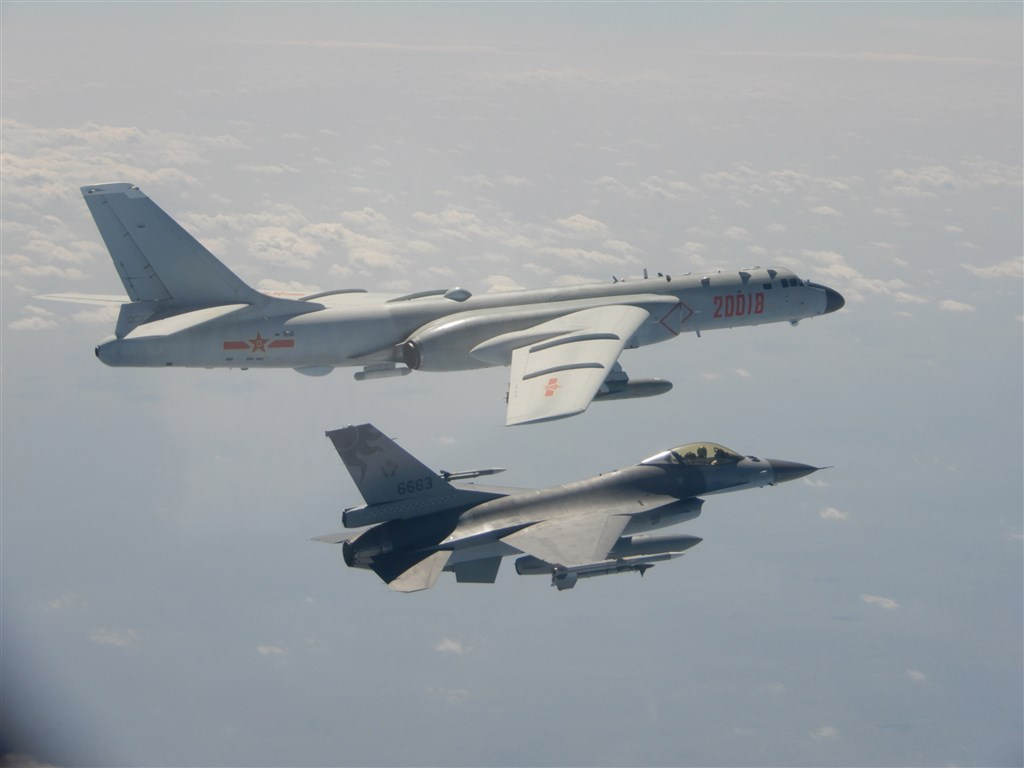 An F-16 fighter jet of Taiwan