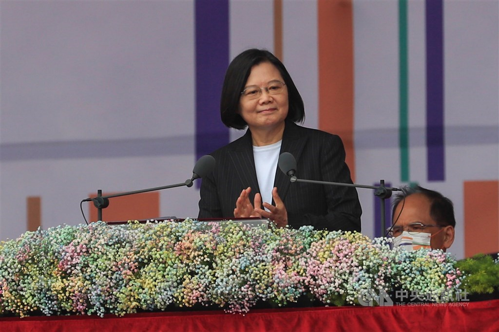 President Tsai Ing-wen. CNA photo Oct. 10, 2020