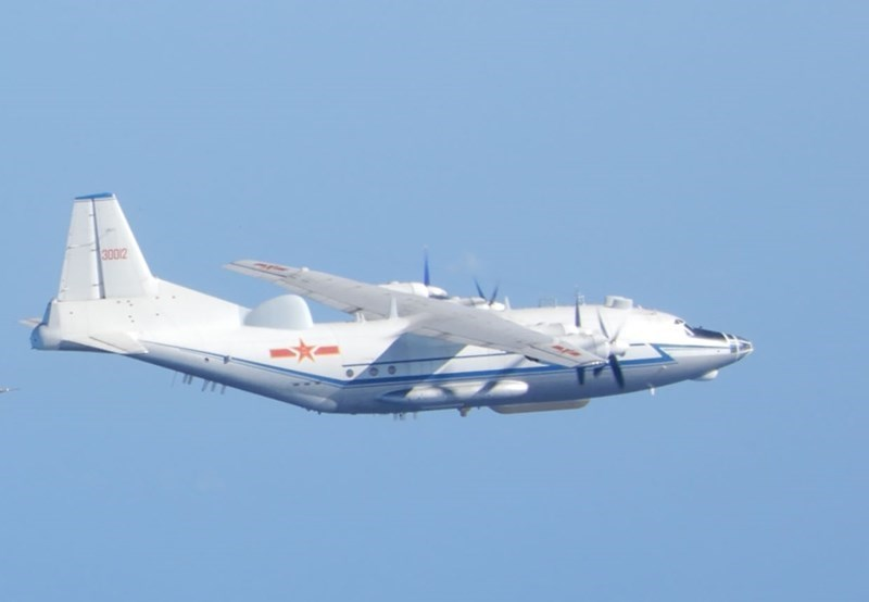 A Chinese Shaanxi Y-8 anti-submarine aircraft. Photo courtesy of the Ministry of National Defense.