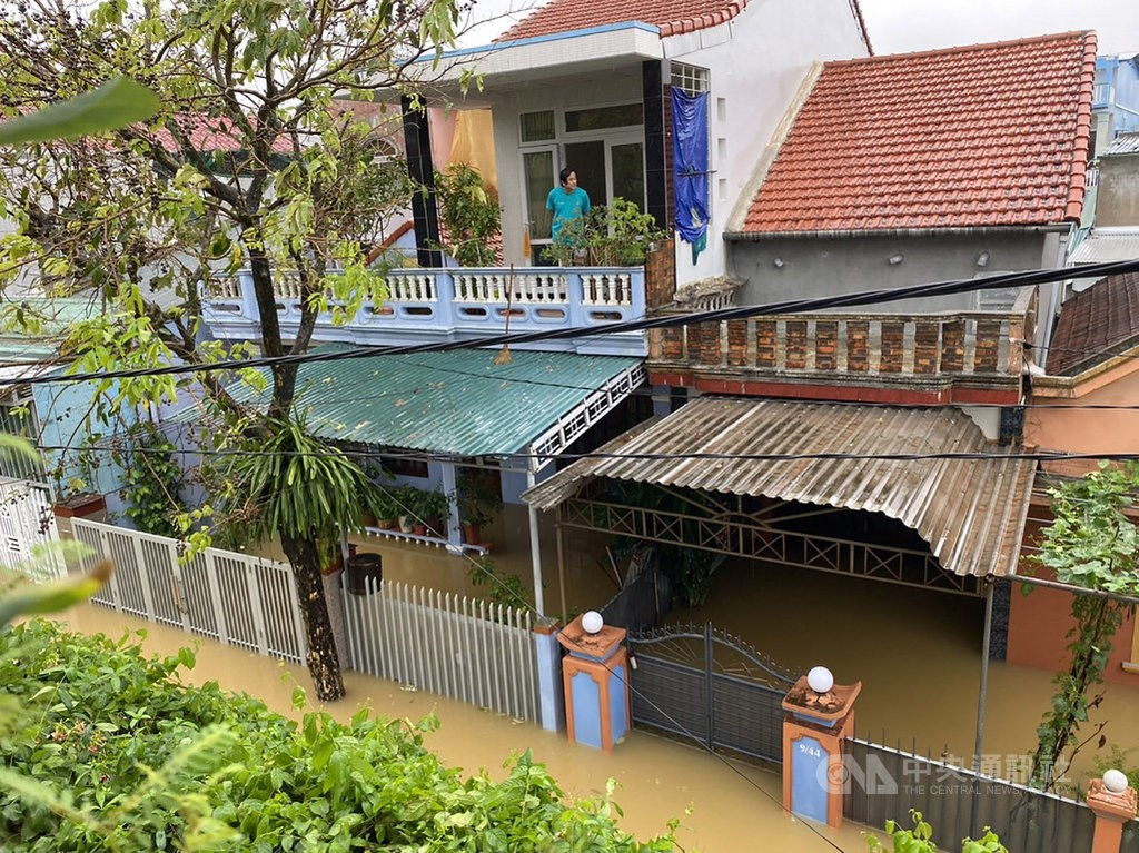 Flooding in the central Vietnamese city of Huế. Photo courtesy of a member of the public Oct. 12, 2020