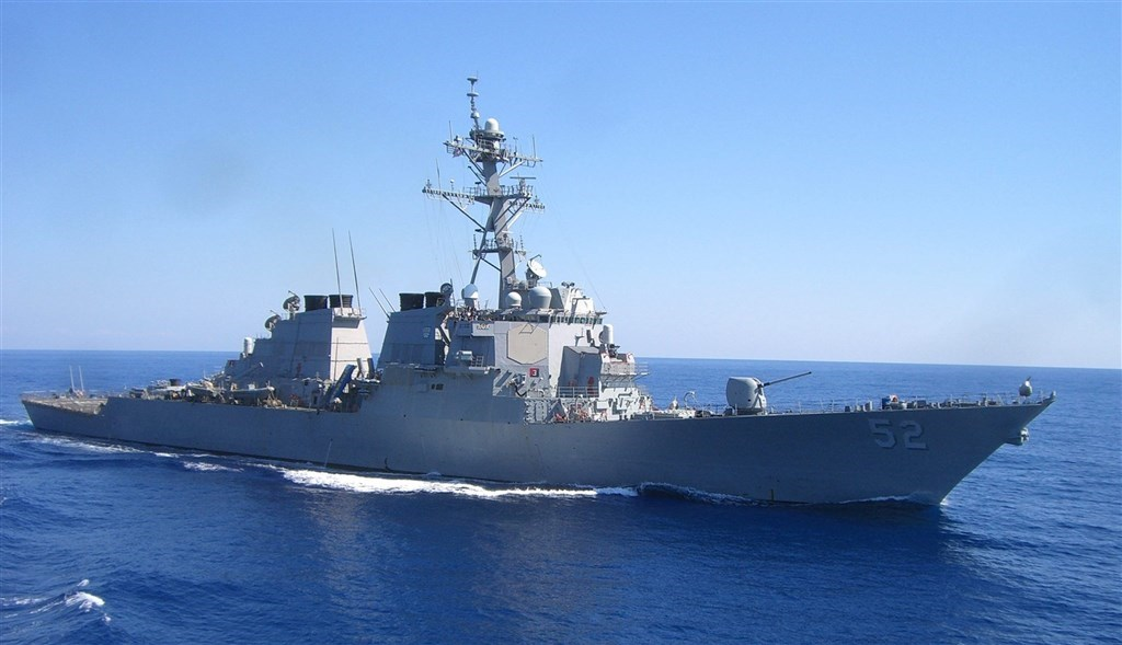The USS Barry, an Arleigh-Burke-class guided missile destroyer that passed through the Taiwan Strait on Wednesday. Photo from facebook.com/DDG52