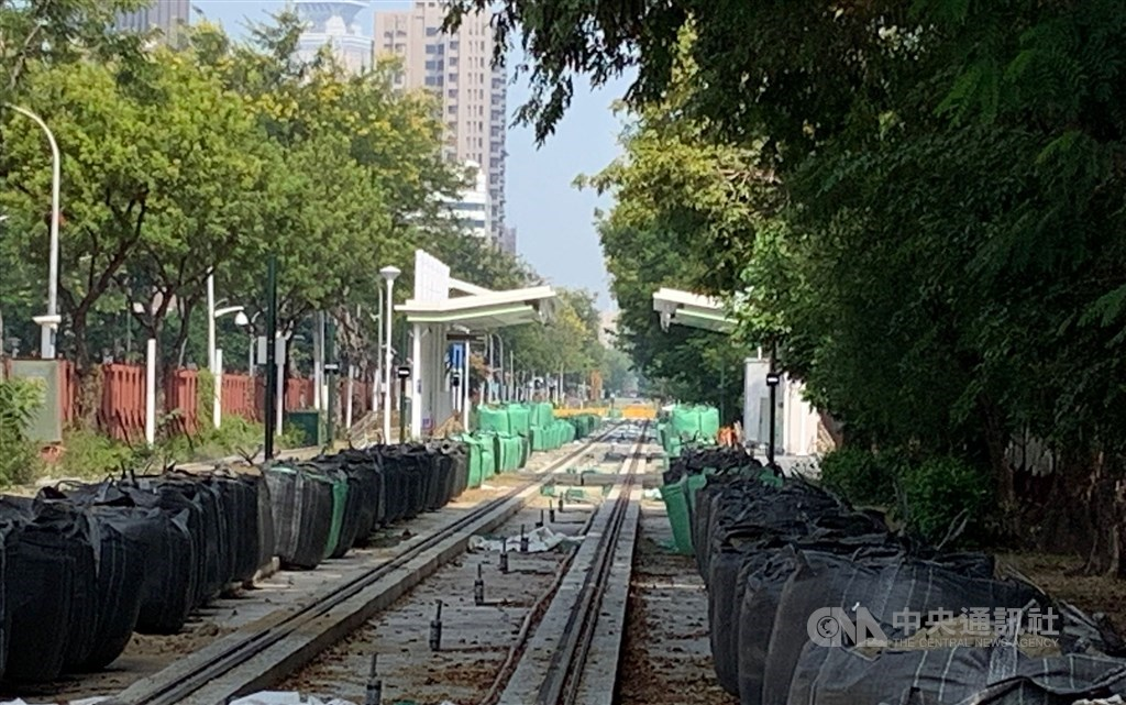 A planned stop where the construction is suspended. CNA photo Oct. 18, 2020