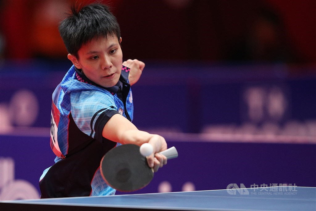 Table tennis player Cheng I-ching at the 2018 Asian Games. CNA file photo