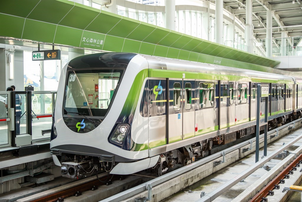 A Taichung MRT train. Photo courtesy of the Taichung city government.